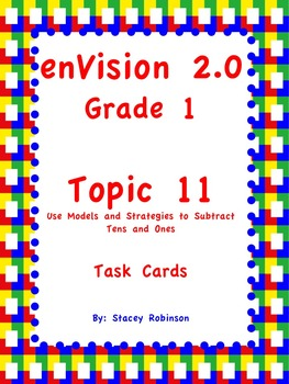 enVision Math 2.0  Topic 11   Grade 1  Task Cards