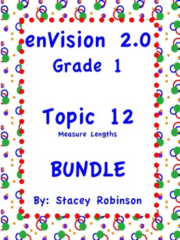 enVision Math 2.0  Topic 12  BUNDLE Grade 1