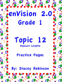 enVision Math 2.0  Topic 12   Grade 1  Practice Sheets