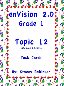 enVision Math 2.0  Topic 12   Grade 1  Task Cards