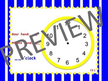 enVision Math 2.0  Topic 13 ~Telling Time~  Grade 1  Flipchart