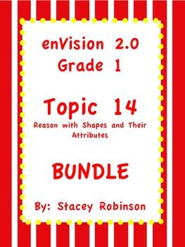 enVision Math 2.0  Topic 14 Geometry ~BUNDLE~ Grade 1