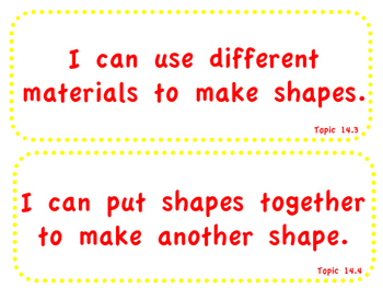 "enVision Math 2.0  Topic 14   Grade 1  ""I can"" statements"