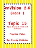 enVision Math 2.0  Topic 15   Grade 1  Practice Sheets