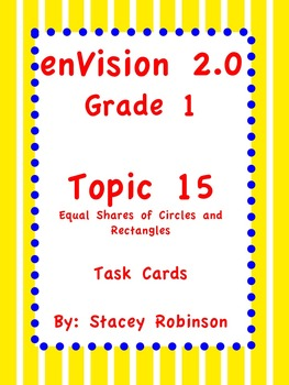 enVision Math 2.0  Topic 15   Grade 1  Task Cards