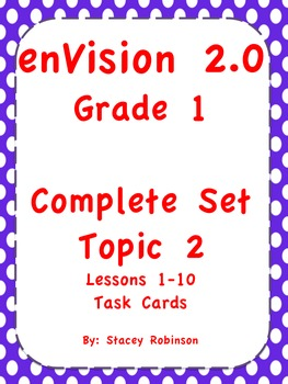 enVision Math 2.0 Topic 2 Complete Set Task Cards Grade 1