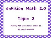 enVision Math 2.0 Topic 2 Flipchart Grade 1