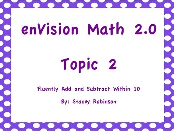 enVision Math 2.0 Topic 2 Flipchart Grade 1