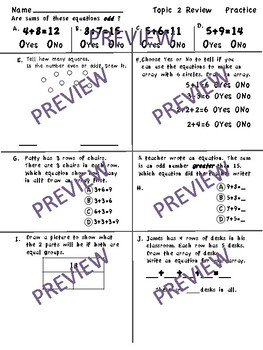 enVision Math 2.0 Topic 2 Grade 2 Practice Sheets