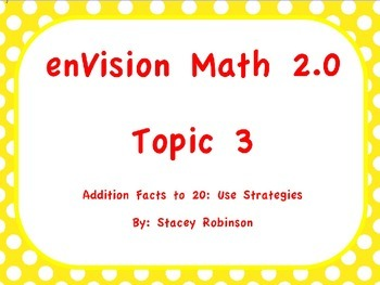 enVision Math 2.0 Topic 3, Flipchart, Grade 1