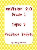 enVision Math 2.0  Topic 3  Complete Set  Practice Sheets Grade 1
