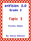 enVision Math 2.0 Topic 3 Grade 2 Practice Sheets