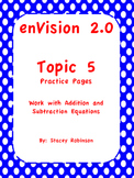 enVision Math 2.0  Topic 5  Complete Set  Practice Sheets Grade 1