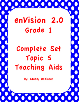 enVision Math 2.0 ~ Topic 5 ~ Grade 1  BUNDLE