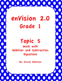 enVision Math 2.0  Topic 5   Grade 1  Complete Set Task Cards