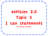 """enVision Math 2.0  Topic 5   Grade 1  """"I can"""" statements"""