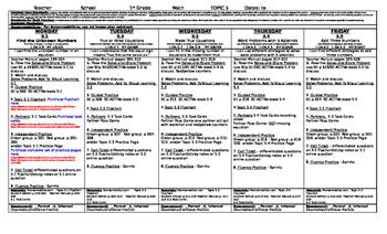 enVision Math 2.0 ~ Topic 5 ~ Grade 1 ~ Lesson Plans