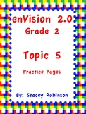 enVision Math 2.0 Topic 5 Grade 2 Practice Sheets