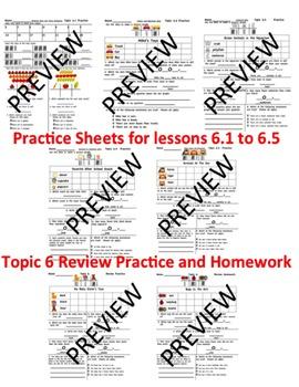 enVision Math 2.0  Topic 6 Grade 1  BUNDLE