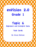 enVision Math 2.0  Topic 6  Grade 1  Complete Set Task Cards