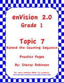 enVision Math 2.0  Topic 7   Grade 1  Practice Sheets
