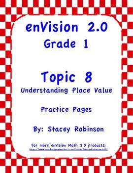 envision math 2 0 topic 8 complete set practice sheets grade 1. Black Bedroom Furniture Sets. Home Design Ideas