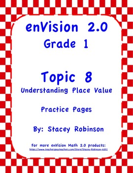 enVision Math 2.0  Topic 8  Complete Set  Practice Sheets Grade 1