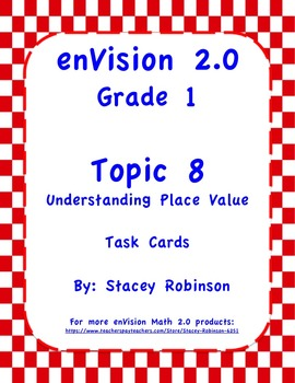 enVision Math 2.0  Topic 8   Grade 1  Complete Set Task Cards