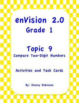 enVision Math 2.0  Topic 9  Grade 1  Complete Set Task Cards