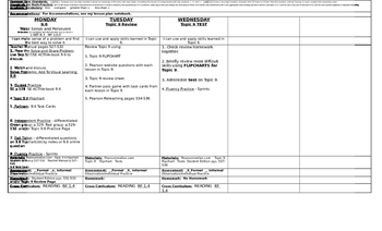 enVision Math 2.0  Topic 9   Grade 1  Lesson Plan