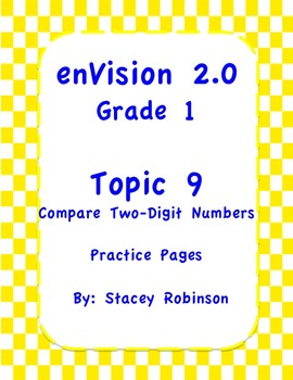 enVision Math 2.0  Topic 9   Grade 1  Practice Sheets