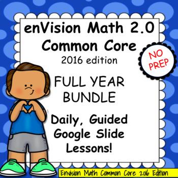 enVision Math 2.0 4th grade FULL YEAR Bundle, Topics 1-16 Daily Lessons w/BONUS!