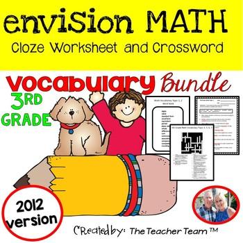 enVision Math 3rd Grade Common Core 2012 Vocabulary Activities Bundle