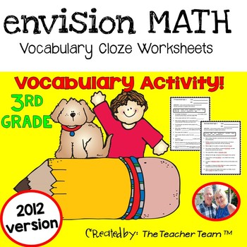 enVision Math 3rd Grade Common Core 2012 Vocabulary CLOZE Worksheet Activities