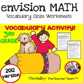 enVision Math 3rd Grade Vocabulary Worksheets Full Year