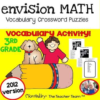 enVision Math 3rd Grade Common Core 2012 Crossword Puzzles Topics 1-16