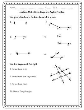 enVision Math 4th Grade - 15.1 - Lines, Rays, and Angles