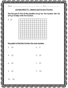 enVision Math 4th Grade - 7.1 Understand Factors