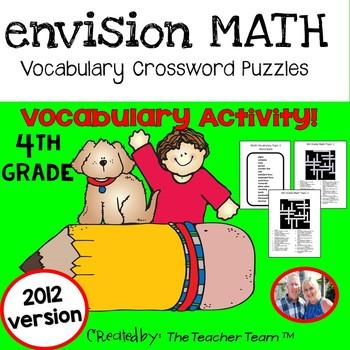 enVision Math 4th Grade Common Core 2012 Crossword Puzzles Topics 1-16