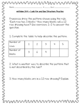 enVision Math 4th Grade - Topic 14 - Generate and Analyze Patterns
