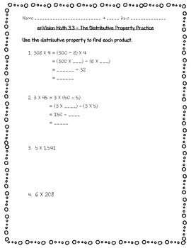enVision Math 4th Grade - Topic 3 - Multiply by 1-Digit Numbers