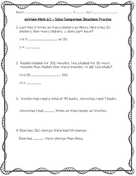 Envision Math 4th Grade Worksheets & Teaching Resources   TpT