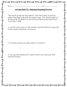 enVision Math 4th Grade - Topic 7 - Factors and Multiples