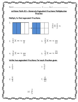 enVision Math 4th Grade - Topic 8 - Fraction Equivalence and Ordering