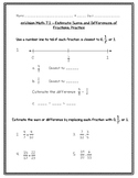 enVision Math 5th Gr - Topic 7 7.1 Estimate Sums and Differences of Fractions