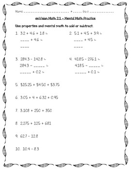 enVision Math 5th Grade - Topic 2 - Understand Place Value