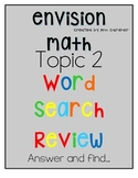 enVision Math - Adding Whole Numbers - Topic 2 - Word Search/Review