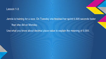 enVision Math Common Core Problem of the Day Slides, Grade 5, Topic 1