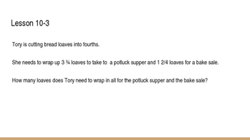 enVision Math Common Core Problem of the Day Slides, Grade 5, Topic 10