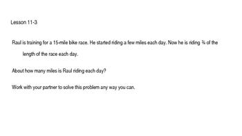 enVision Math Common Core Problem of the Day Slides, Grade 5, Topic 11
